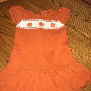 3T pumpkin Gymboree sweater dress